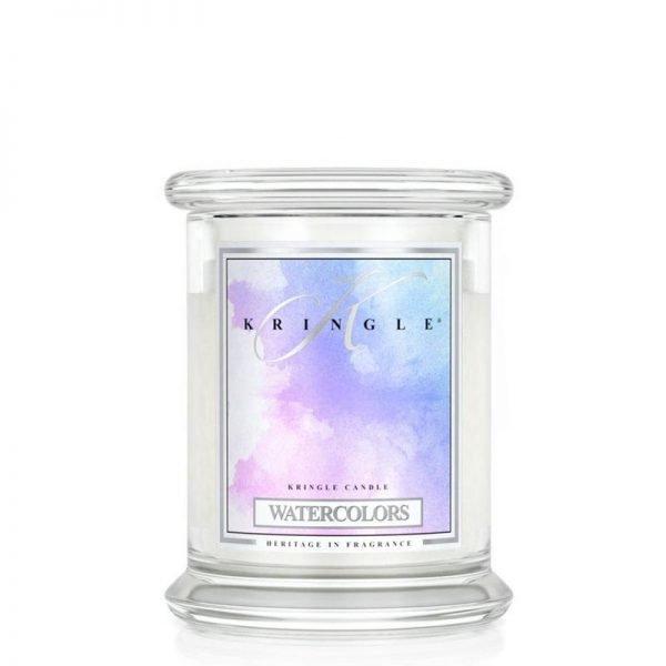 Świeca średnia od Kringle Candle, prezent, świeca zapachowa, prezent, upominek, świeczki, zapachy, aromaty, bańki, lekki zapach, relaks, odpoczynek, kolorowo, mydlany zapach, świeży zapach