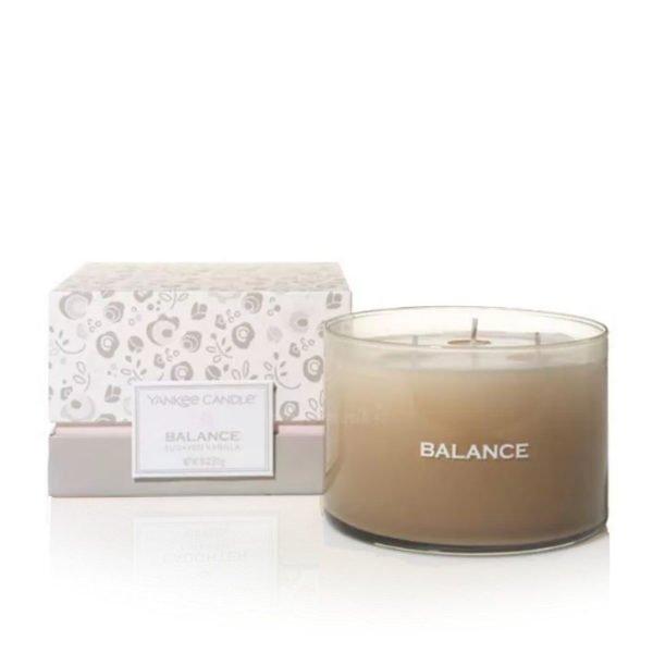 Yankee Candle świeca making memories balance , wosk,, świeca zapachowa, kokos, trzcina cukrowa, pomarańcza ,jaśmin, cukrowe płatki róża cukier waniliowy, kryształki bursztynu, kremowe drzewo sandałowe