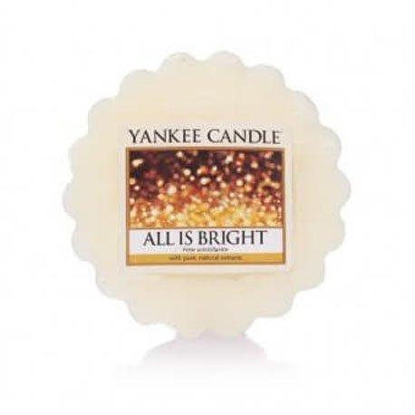 wosk od Yankee Candle, biała w szklanym słoiku o zapachu All is bright. Szampan, cytrusy, grejfrut, pomarańcza, cytryna, owoce, porzeczka, sylwester, zapach sylwestrowej nocy, zapach, świeca zapachowa, świeca, zabawa, relaks, odpoczynek, impreza, prezent, prezent na domówkę,, drobiazg, upominek