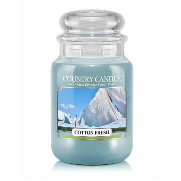 Świeca duża od Country Candle, prezent, świeca zapachowa, urokliwy zapach, wosk, wosk zapachowy, prezent, upominek, świeże pranie, czystośc, bawłena, kaszmir, świeże, orzeźwienie