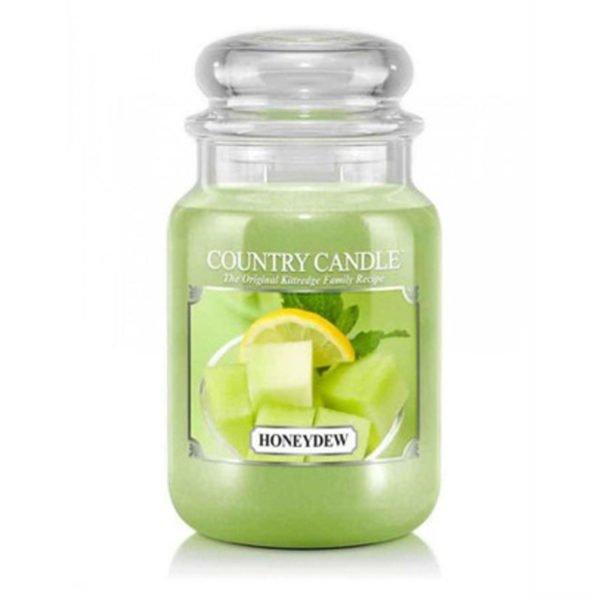 Świeca duża od Country Candle, prezent, świeca zapachowa, urokliwy zapach, wosk, wosk zapachowy, prezent, upominek, melon, cytrus, eukaliptus, owoce, lato, wiosna, zielone, odpoczynek
