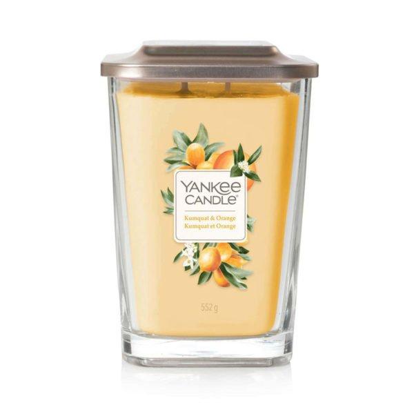Duża świeca sojowa od Yankee Candle, pomarańcze, świeże, słodkie, lato, wiosna, przyroda, prezent, upominek, wosk sojowy
