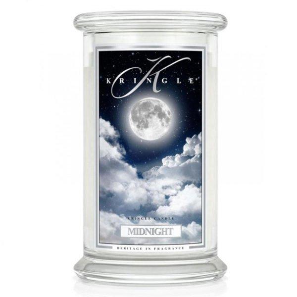 Świeca duża od Country Candle, prezent, świeca zapachowa, urokliwy zapach, wosk, wosk zapachowy, prezent, upominek, Kringle Candle, świeca zapachowa, piżmo, bursztyn, noc, księżyc