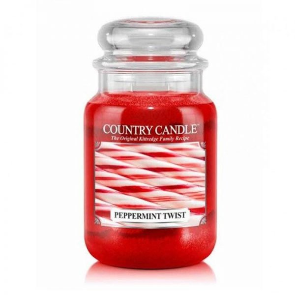 Świeca duża od Country Candle, prezent, świeca zapachowa, urokliwy zapach, wosk, wosk zapachowy, prezent, upominek, czekolada, mięta, słodkie, świeże