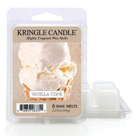 Wosk od Kringle Candle, lody, wanilia, lody waniliowe, wafelek, lato, wiosna, słodkie,, kringle, świeca zapachowa, relaks, odpoczynek, prezent, upominek,