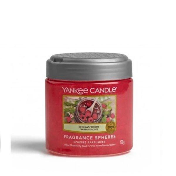kuleczki żelowe od Yankee Candle, różowa w szklanym słoiku o zapachu Red Raspberry. Maliny, różowa, czerwona, świeca zapachowa, świeca, zapachy, malinki, owoce, dżem, słodkie, słodycz., łazienka, dom