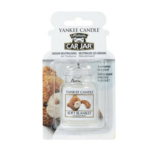 Zapach do samochodu od Yankee Candle, biała o zapachu Soft Blanket. Misiu, biała, świeca zapachowa, kocyk, miła, prezent., car jar ultimate