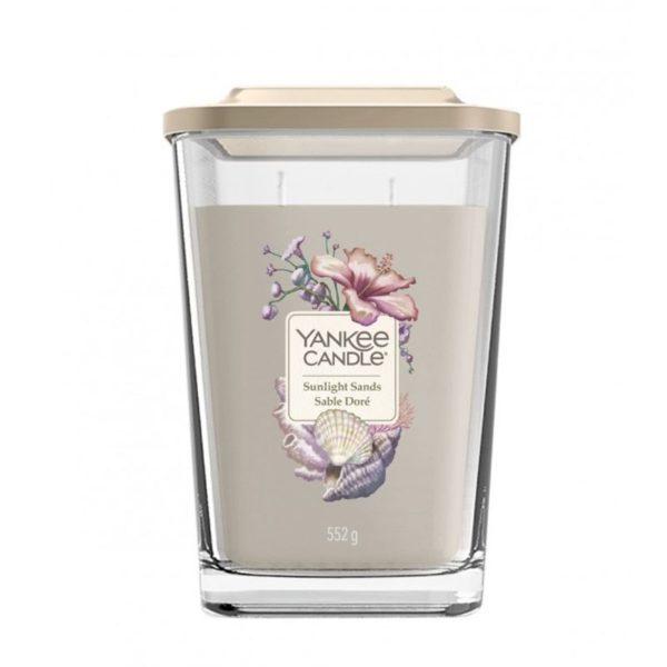 Duża świeca sojowa od Yankee Candle słoneczne kwiaty, nuty świeżego powietrza, tumberoza, jaśmin, Ylang Ylang, prezent, upominek