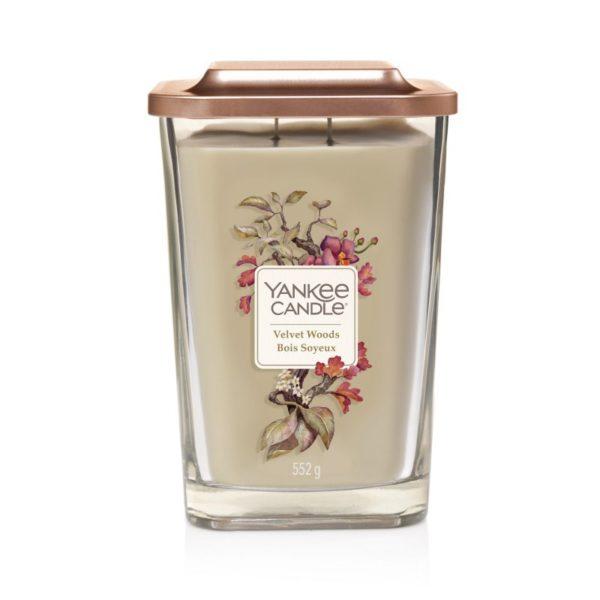 duża świeca sojowa od Yankee Candle akordy aksamitu, kwiat tytoniu, jeżyna, orchidea, drzewo hebanowe, bursztyn, prezent, upominek, tropikalny las, kwiaty, bukiet