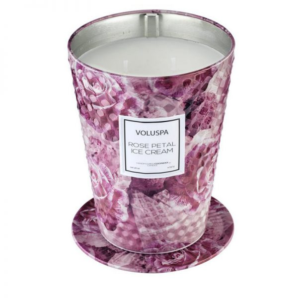 świeca, świece luksusowe, wosk kokosowy, luksusowy wosk, elegancki, unikatowy, piękny zapach, bogato, prezent, upominek, prezent na ślub, pomysł na prezent, lody, róża, lody różane, różowy, wanilia, przyprawy, słodkie, krem, herbata