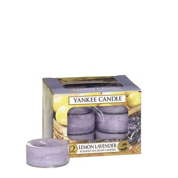 Tealight od Yankee Candle, fioletowa w szklanym słoiku o zapachu Lemon lavender. Lawenda, cytryna, cytrusy, relaks, świeżość, orzeźwienie, domowo, ogród, dom, zapach, domowe SPA, SPA, prezent, dom, domowo