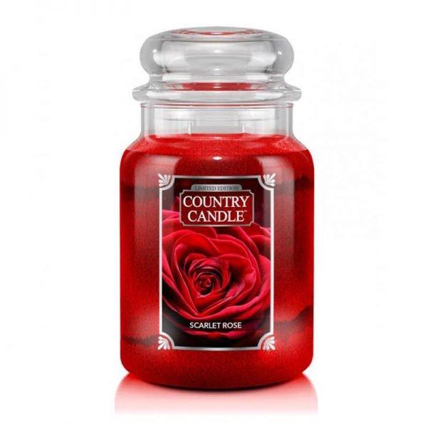 Świeca duża od Country Candle, prezent, świeca zapachowa, urokliwy zapach, wosk, wosk zapachowy, prezent, upominek, róża, aksamitny zapach, prezent, dzień kobiet, panie, pani, prezent dla pani