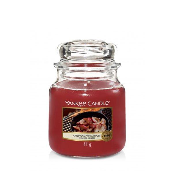 świeca średnia Yankee Candle, lato, szklany słoik, odpoczynek, relaks, paczuła, las, drzewa, relaks, prezent, upominek,jabłka, goździki, cynamon, cedr, mandarynka, ciepły zapach, jesień, zapach jesieni