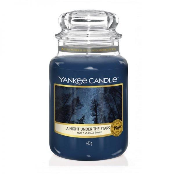 Świeca duża Yankee Candle, lato, szklany słoik, odpoczynek, relaks, paczuła, las, drzewa, relaks, prezent, upominek, cedr, skóra, piżmo zapach skóry, romantyczny zapach, romans, tajemnica, tajemniczy zapach, relaks nocą, szafran, róża, goździki, kadzidło