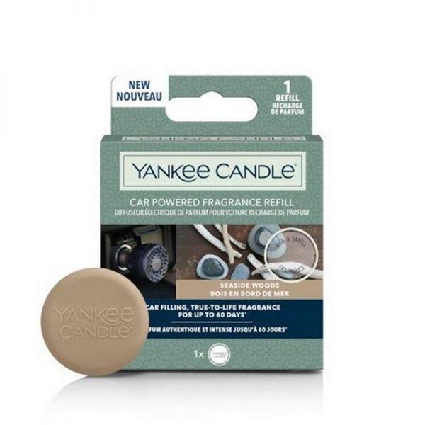 zapach do samochodu, uzupełniacz, Yankee Candle, prezent, upominek, drzewo sandałowe, drzewa, woda morska, morze, świeże, zapach męski, brązowe