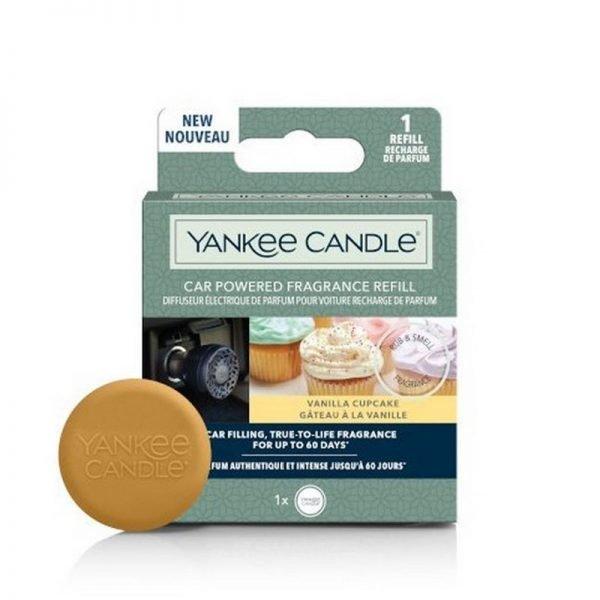zapach do samochodu, uzupełniacz, Yankee Candle, prezent, upominek,, babeczki, słodkie, lukier, wanilia, żółte